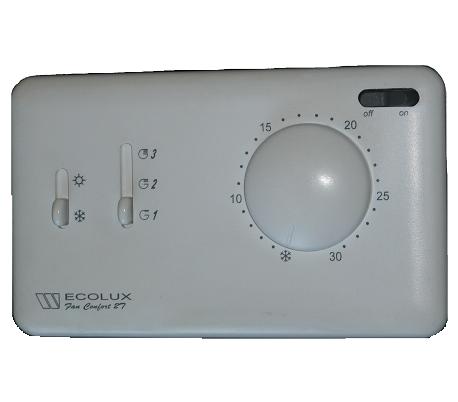 Termostate Watts electromecanice, seria Ecolux – Fan Comfort 2T