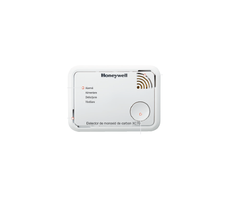 Detectoare Honeywell de monoxid de carbon, aplicaţii domestice, seria XC70